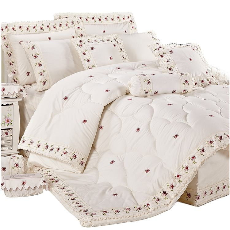 KOSMOS super king factory wholesale lace and embroidery dubai comforter set