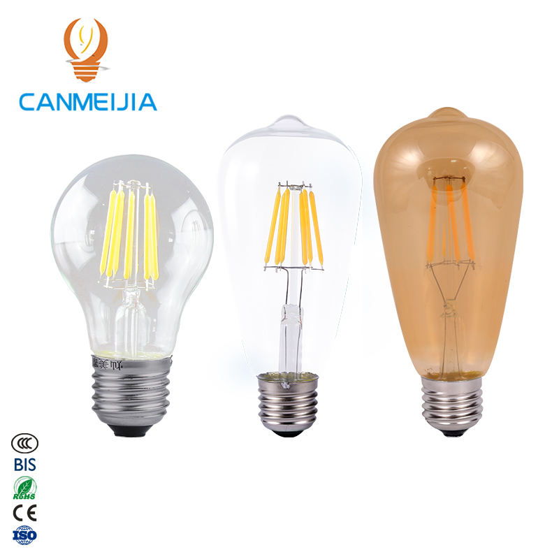E26 E27 ST64 6W Free Sample Free Shipping Retro Led Dimmable Electric Edison Bulb Chandelier Light Bulb Vintage Filament Bulb
