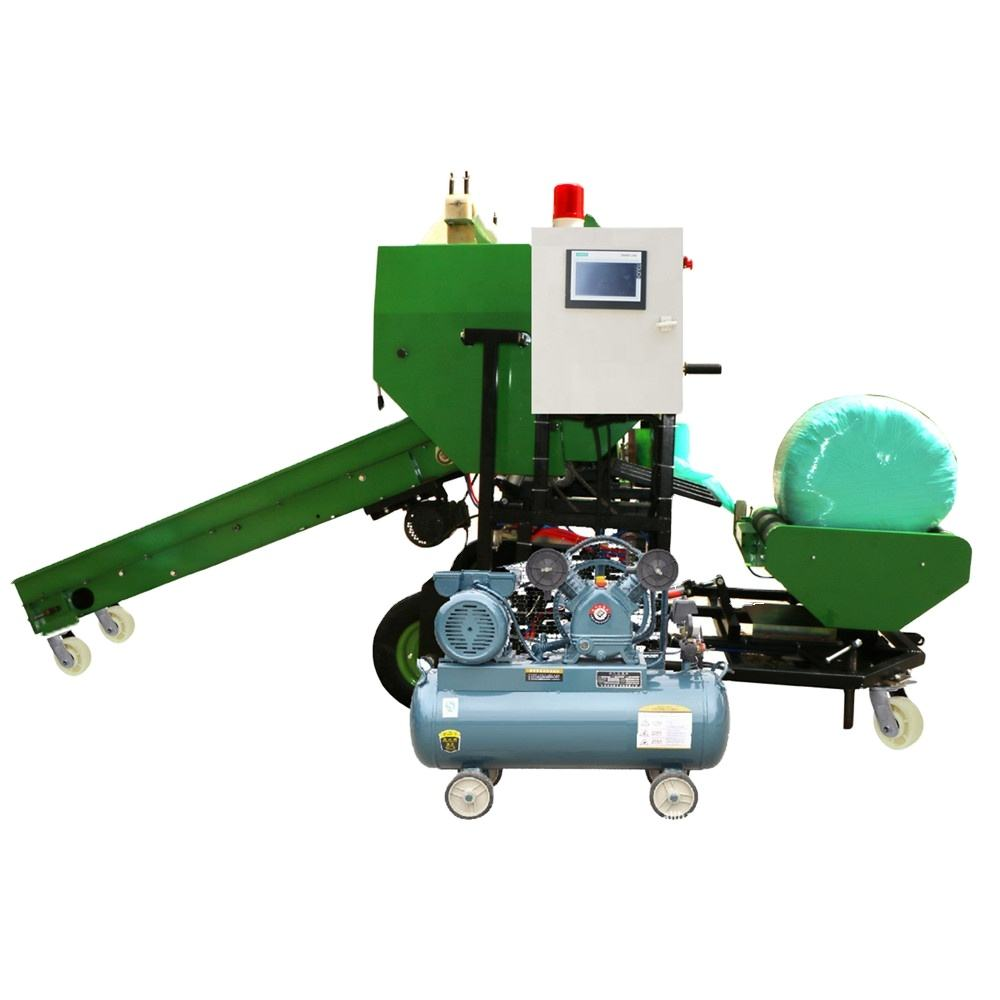 Hot Sale India Silage Baler Machine Mini Round Hay Bale Wrapper Used In Dairy And Goat Farms