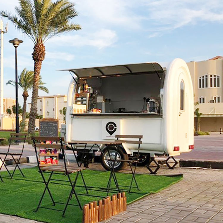 Commercial Catering [ Food Cart Sale ] Trailer Design Cart Small Fast Food Trailer Van Australian Standard Used Ice Cream Food Truck Shawarma Food Cart For Sale