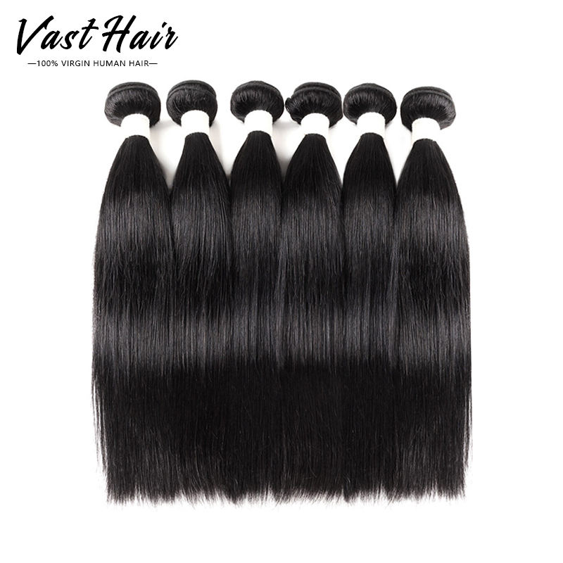 Vast 100% 10A Woman Human Hair Extension Mink Cuticle Aligned Raw Brazilian Virgin Straight hair Bundles with Frontal Closure