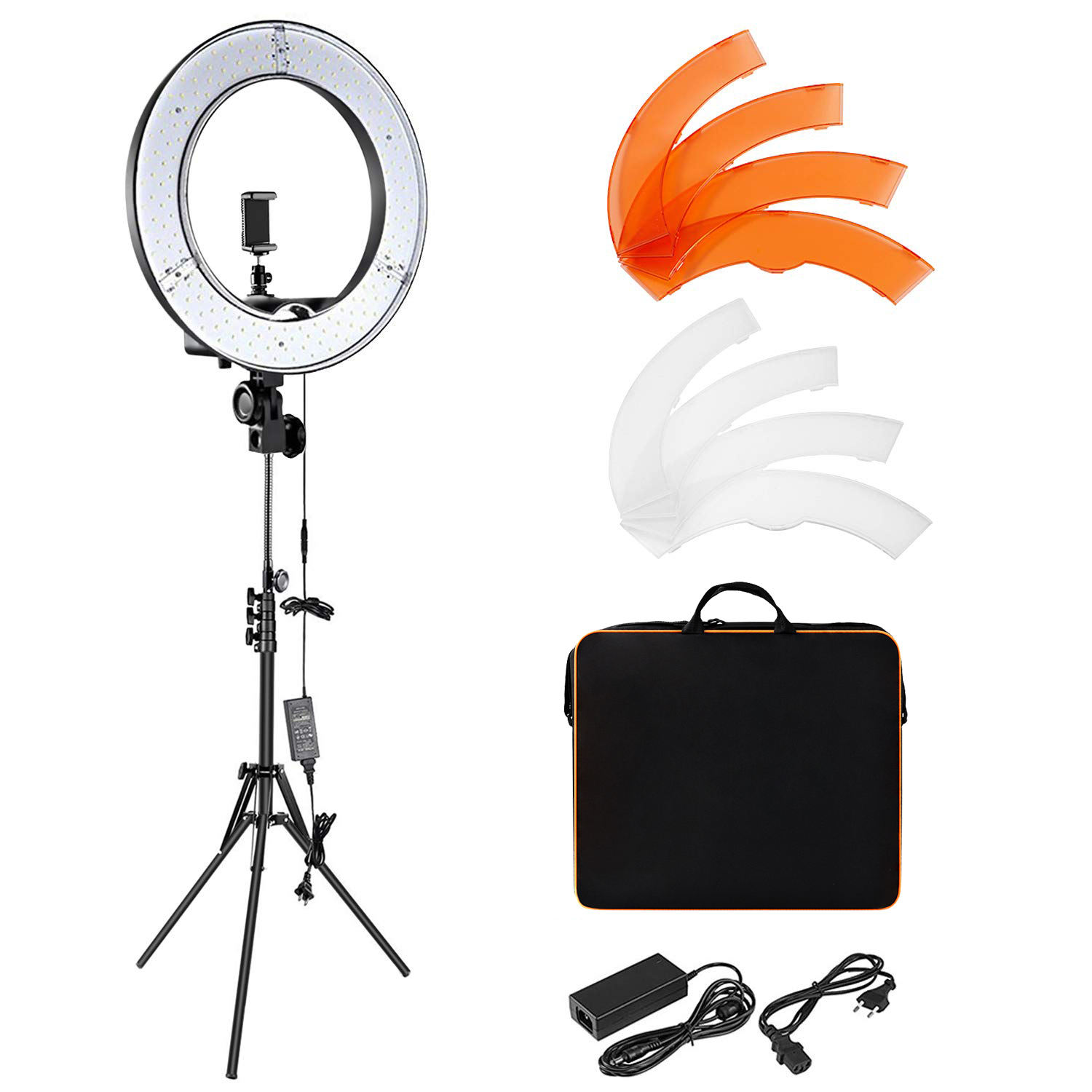 Fosoto RL-18 <span class=keywords><strong>Camera</strong></span> Photo Studio Telefoon <span class=keywords><strong>Video</strong></span> 18 Inch 55W 240 Pcs Led Ring Light 5500K Fotografie Dimbare ring Lamp Met <span class=keywords><strong>Statief</strong></span>