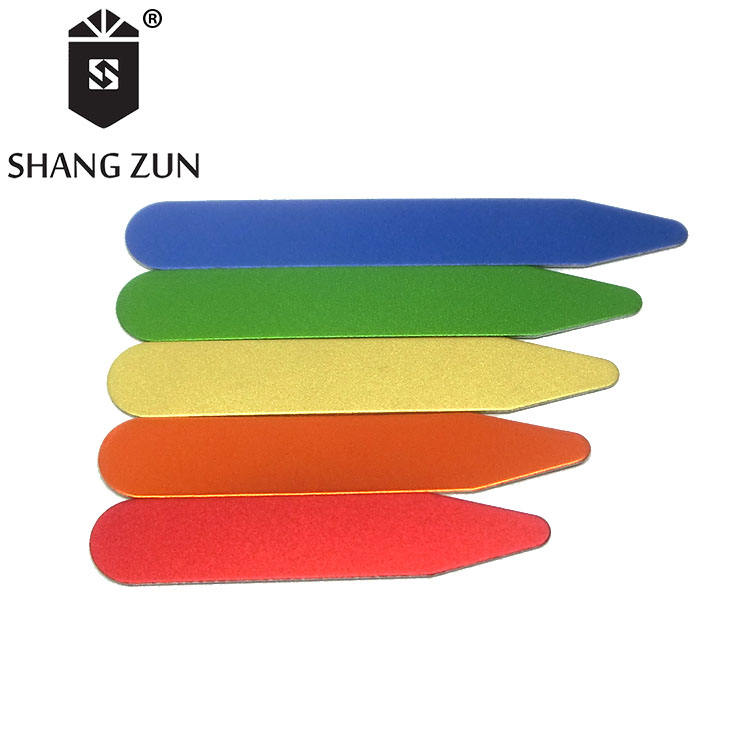 3 Colors 3 Sizes Shang Zun 48 Pcs Plastic Collar Stays in 3 Glass Bottles