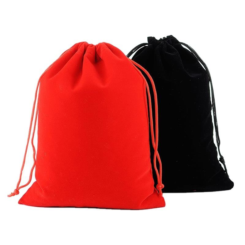 Durable high-end flannel bag perfume drawstring tote bag flannel packaging bag 15x20cm