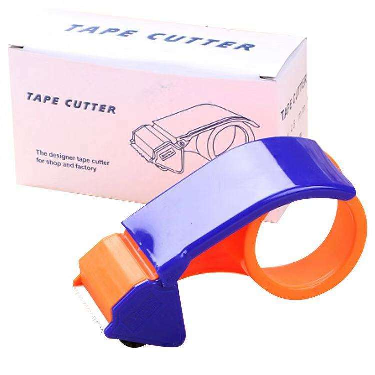 Hot sale 2% discount plastic 2 Inch Tape Gun Dispenser Packing Packaging Sealing Cutter Orange Handheld Warehouse Tool