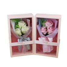 2020 Handmade small rose soap flower bouquet valentine's mother day gift