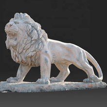 Wholesale stone life size lion marble carving sculpture