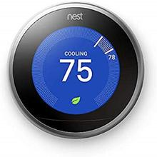 Amazing Price For Original Nest T3007ES 3rd Generation Learning Stainless Steel Programmable Thermostat New