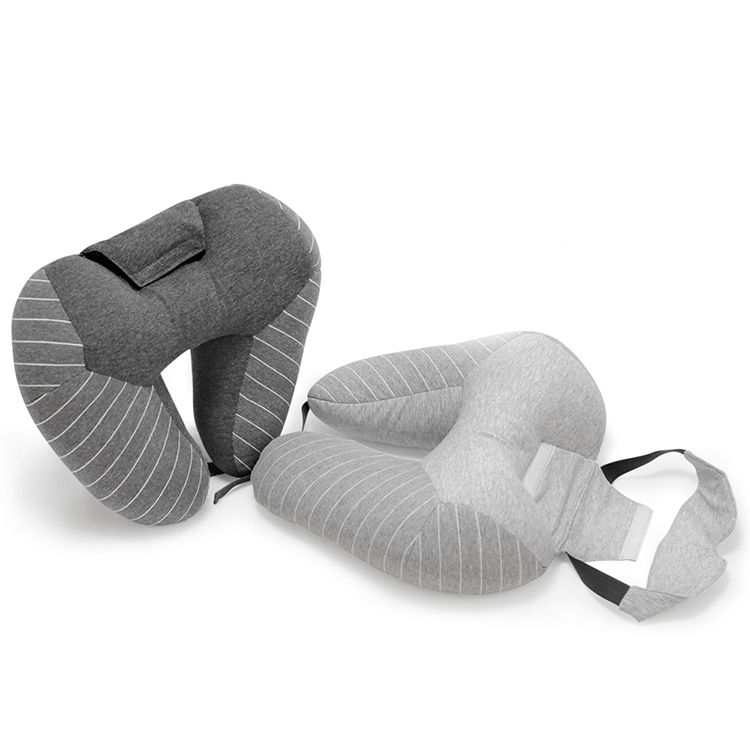 Newest Foldable Adjustable Eyeshade Together Travel Car Neck Stretcher Pain Relief Pillow