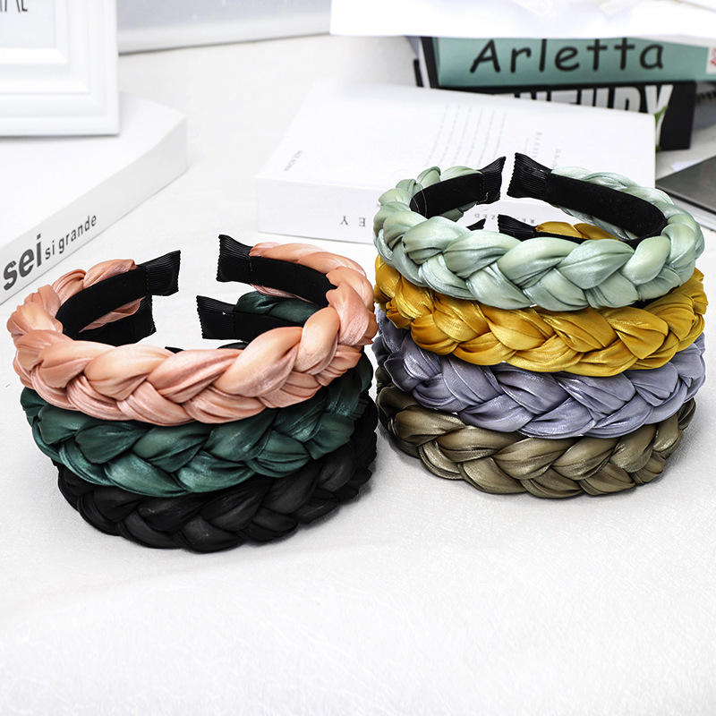 Hot Sale Fabric Braided Hair Accessories for Women Wholesale YIWU Colorful Hairband Headband for Girl