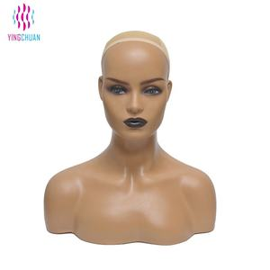Realistic dummy head bust plastic female dummy head with shoulders