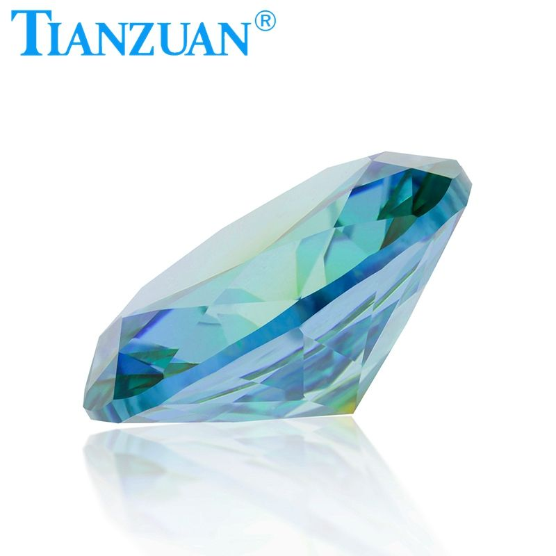 Oval Shape Cubic Zirconia Special Color one-time Forming Multi blue green Color CZ Loose Stone