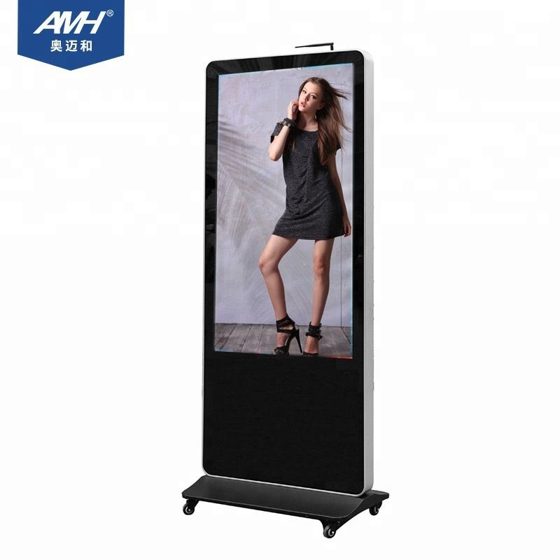 "55"" Floor-Standing multi touch screen Android Advertising Player, Background Control System for mall ,shipping market , museum"
