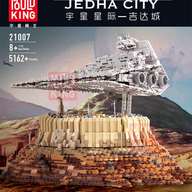 Hot sell Mould King 21007 Star Plan Destroyer cruise ship The Empire Over Jedha City Building Blocks Toy legoing