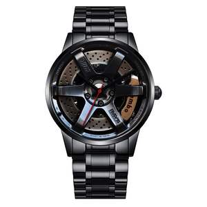 True three-dimensional steering Design Your Own Car Custom Rim Watches Wrist Watch logo