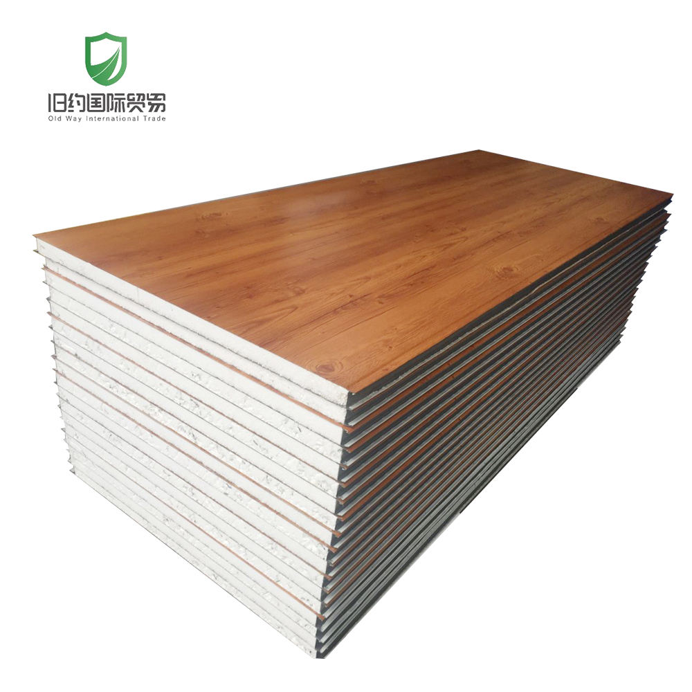 Multicolored wood grain sandwich panel for container homes