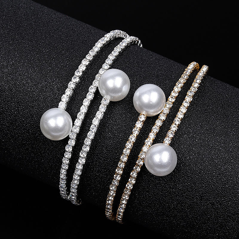 2019 New Arrivals Fashion Girls Women Jewelry Custom Pearl Bracelets Bangles Wholesales