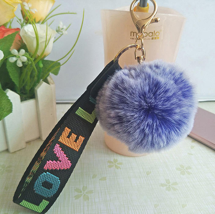 Korea Style Soft Fluffy Faux Fur Small Penguin Owl Mouse Monster Shape Keychains Pompom Ball Pendant Keyring For Handbag