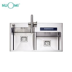 NUOMI SUS304 Intelligent Handmade Sink with Water Purifier stainless steel Kitchen sink