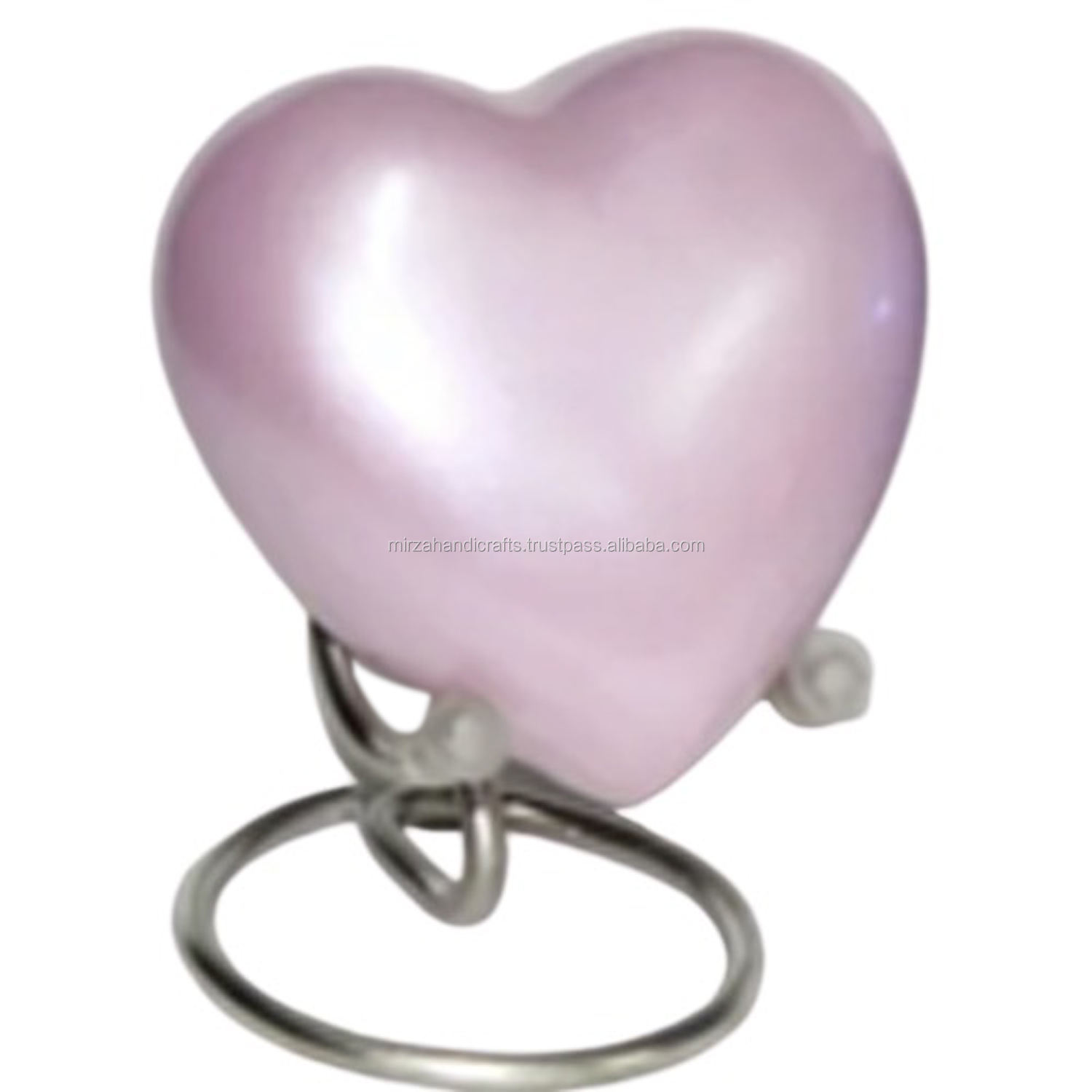 Light Pink With Stands Heart shaped urn