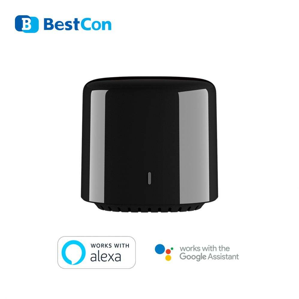 BestCon 2020 New product RM4C mini IR/RF 315 433 for AC TV Universal Remote Control With Google Alexa
