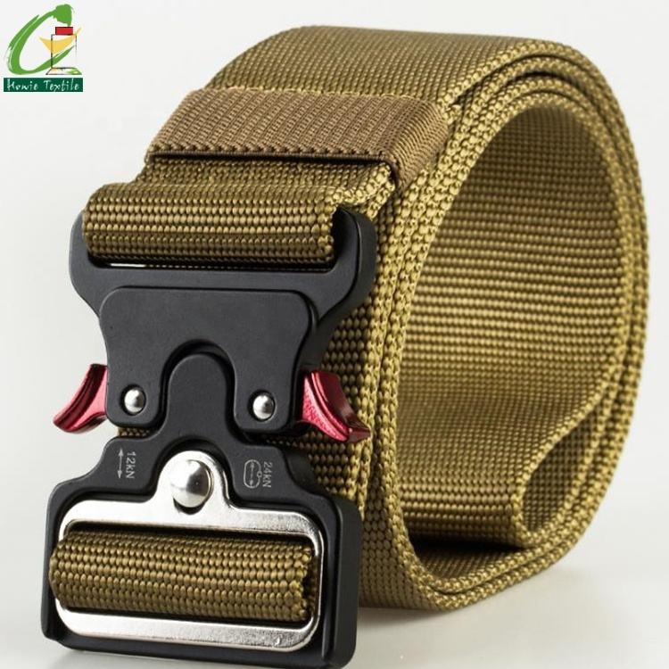 50mm width Zinc Alloy Buckle bag nylon webbing belt