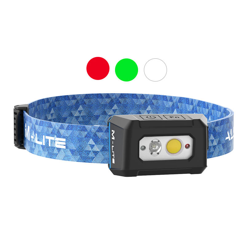 ALS M-lite 200lm Rechargeable Light Hunting & outdoors LED Headlamp Red and Green light Dimming stepless Waterproof Headlight