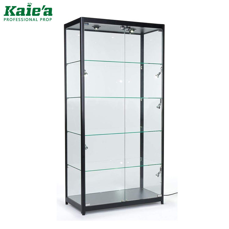 New glass trophy cabinet showcase display case for jewelry and watch display