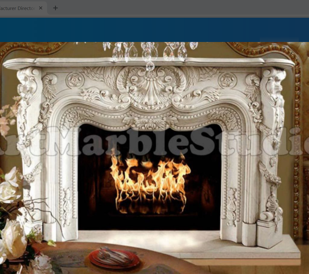 Cheap french style decorative marble fireplace mantel ZHF-103
