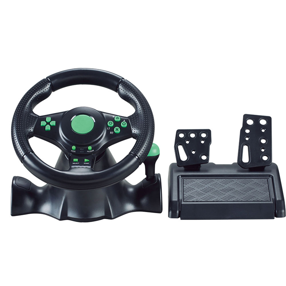 Gaming racing wheel Apex controller with Pedals Driving Force vibration for racing game PS4 / PS3 / XBOX / Switch / Android / PC