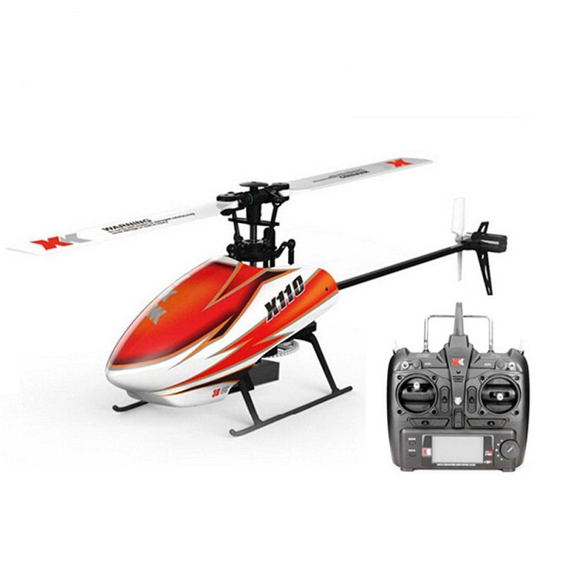 Xk K110 Flybarless R/C With Gyro Helicopter Six Channel Brushless 3D Mini Rc Helicopter V977 Rc Helicopter