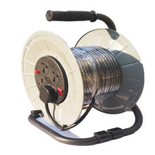 Portable power cable drum reels