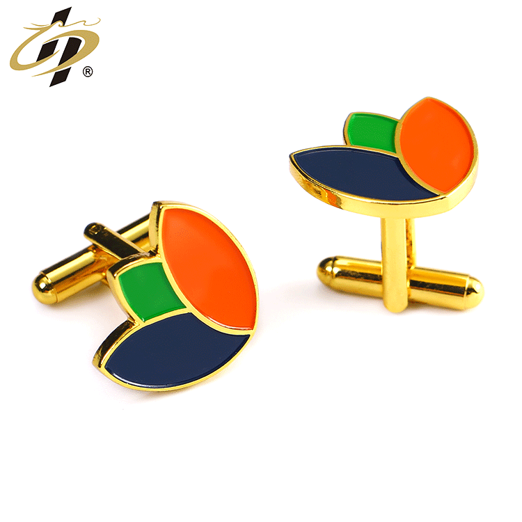Custom own design logo metal cufflinks gold plated men cuff links for sale
