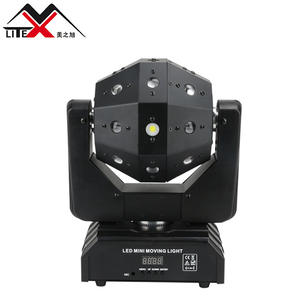 DJ อุปกรณ์ 3W * 16PCS LED Moving Beam Head Light Beam + เลเซอร์ + Strobe 3 in 1 ผล PARTY LIGHT