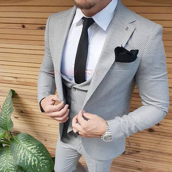 Print Flower Men Suits Groom Suits Groomsman Suits For Wedding Party Wear