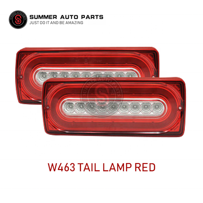 High quality Dynamic W463 tail lamp Red for G-class W463 2009-2016 year for G500 G55 G63 flowing round style Car model