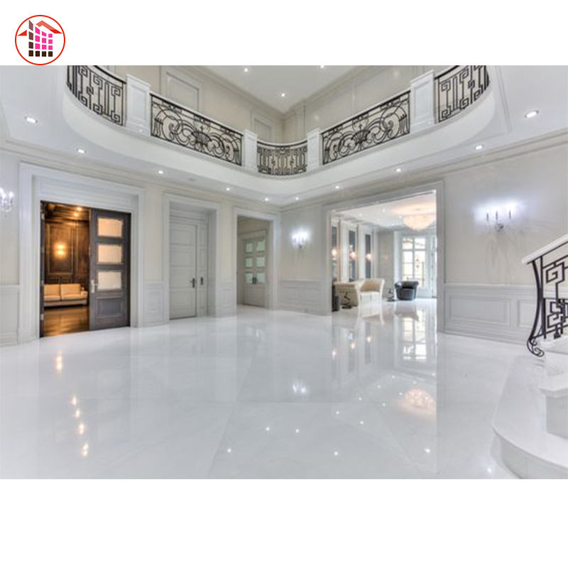 Crystal White Marble Natural Superior White Marble Tile Flooring Slab Natural Stones Tiles Pure Crystal White Marble