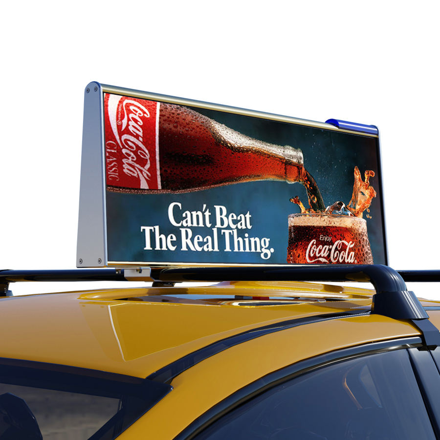 Nieuwste Outdoor Taxi Dak Video LED Display/Full Color Auto Top Teken/3G WIFI Taxi Reclame LED display