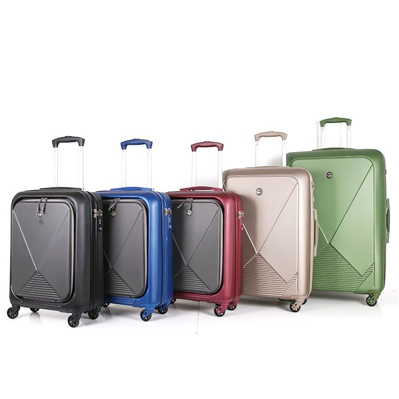 Modern style girls decent travel luggage with super quality eminent trolley verage suitcase with wheel luggage