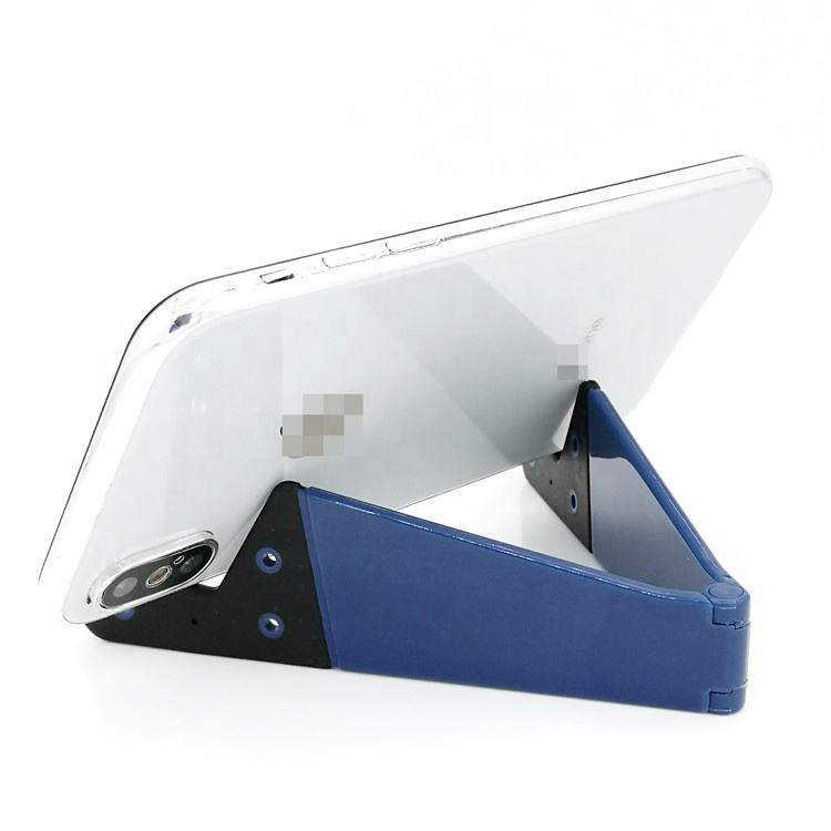 OEM available Colorful durable plastic v shape foldable tablet mobile phone stand
