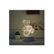 2020 New types Cartoon Cute Heart Bear Shape Acrylic LED Lamp 3D Baby Night Light Sleeping Lighting