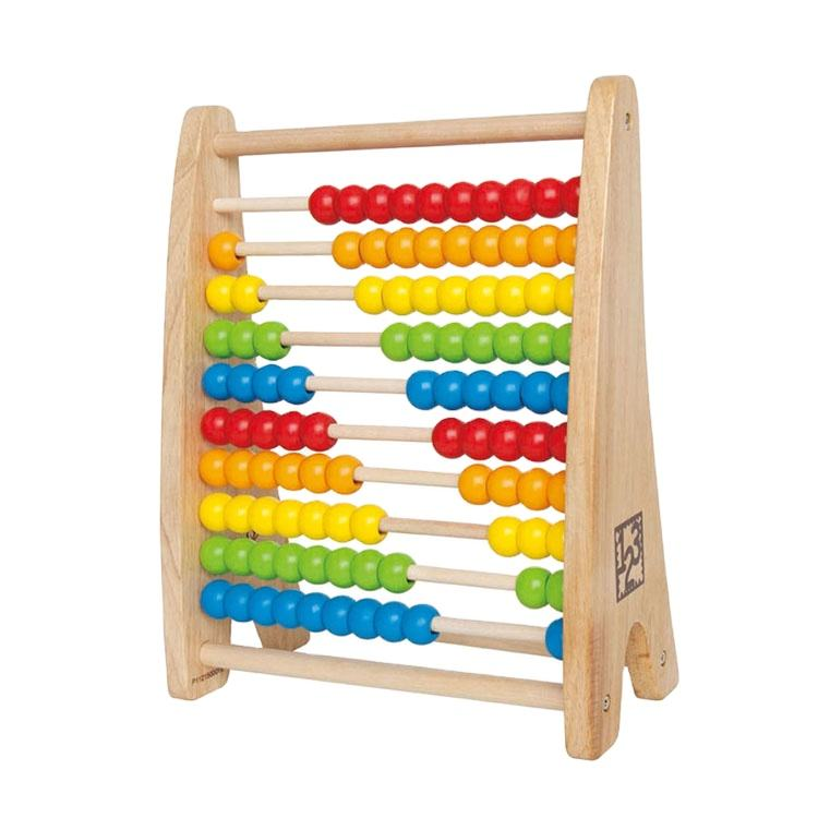 Hape Top Brand New design Wooden Eco-friendly Educational Montessori Material Rainbow Math Toy Large Beads Abacus