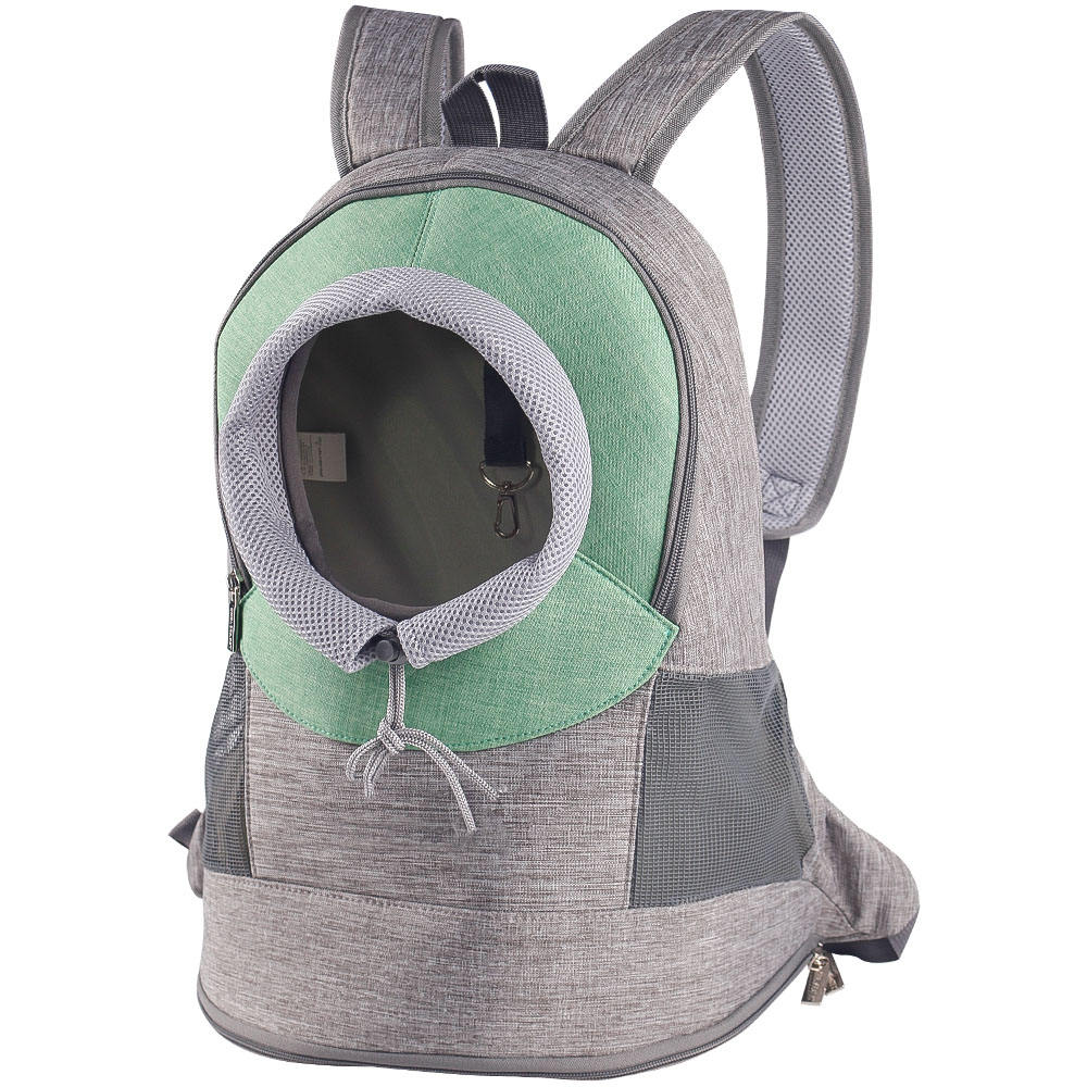 Touch-Rich green outdoor Shoulder ventilation chest pet bag for dogs walking bag