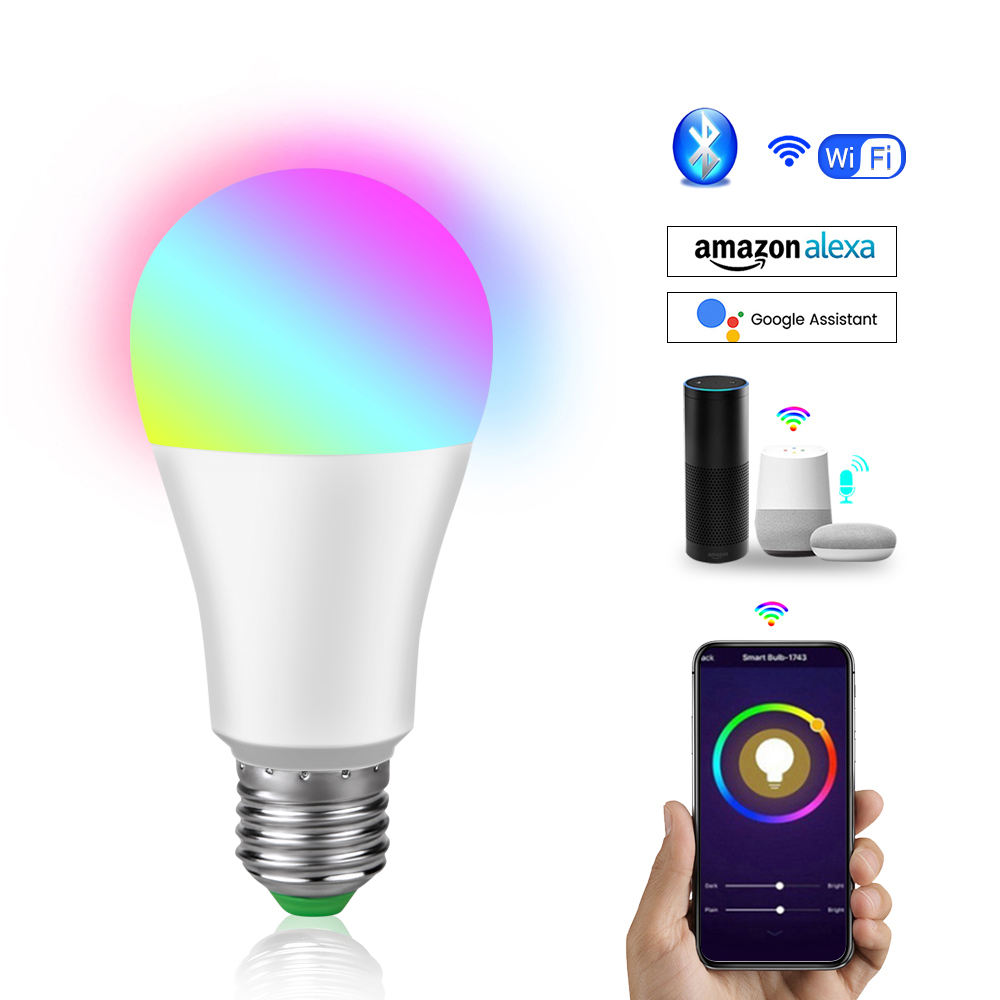 CTORCH 7W 9W 12W Rgb+White Wifi Rgb Charge Smart Led Light Bulb