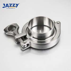JAZZY 3A/ISO/DIN Standard ASTM A270 SS304/SS316L stainless steel sanitary ferrule gasket tc tri clamp pipe fittings