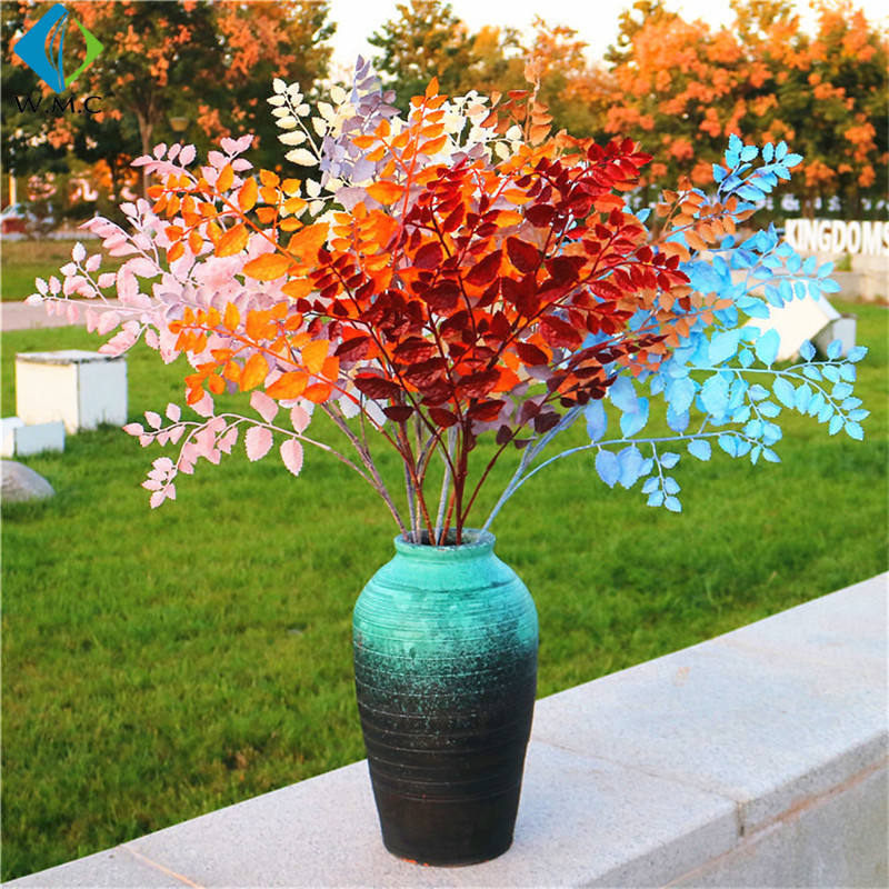 Artificial Plastic Tea Tree Leaves Branches Wedding Home Model Room Decoration R201024
