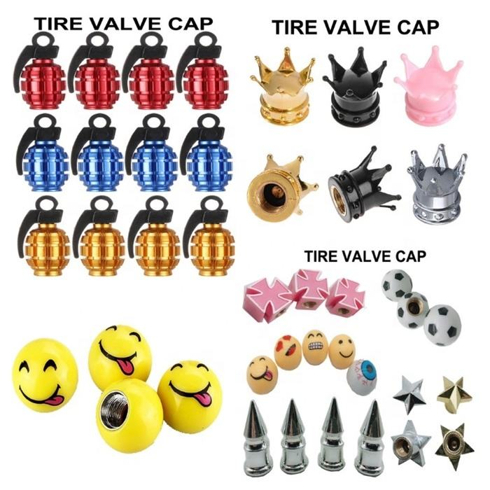 Auto ABS Crown Tire Valve Cap