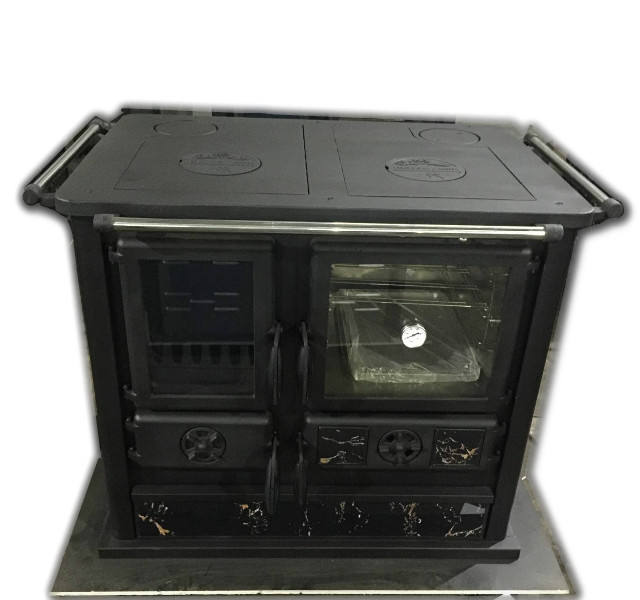 Cast iron wood cook stove with oven