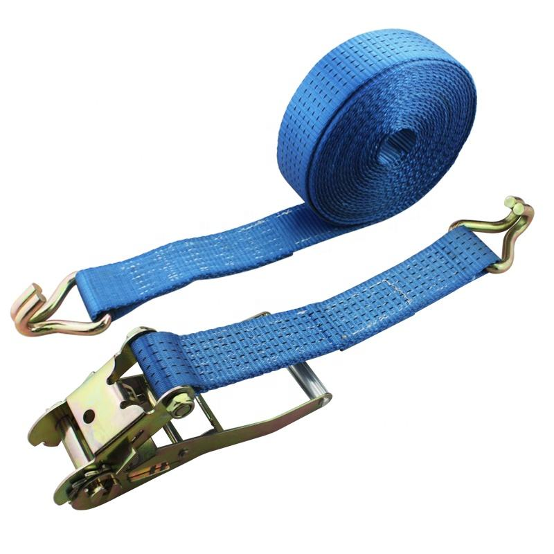 2 Inch 5000KGS recovery retractable Lashing Strap cam buckle Ratchet Tie Down Straps belt set