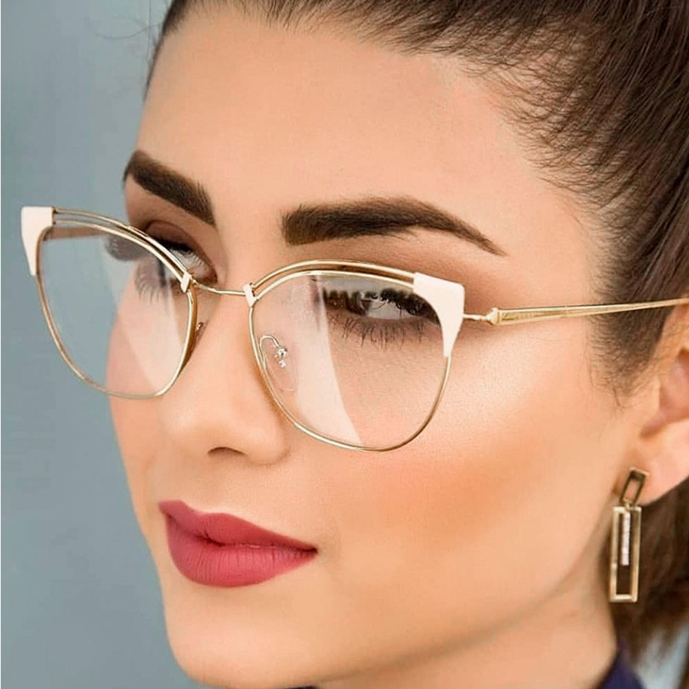 Sparloo 2152 Metal Oversized Women Top Quality Optical Glass Lens Frames Eyewear